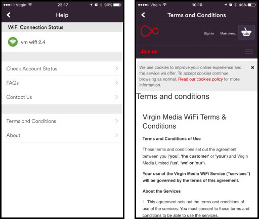 Article details for App terms and conditions template