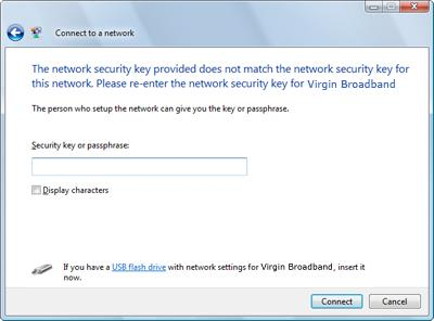 how to know network security key