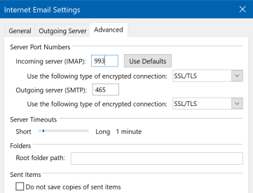Updating Virgin Media Mail Settings | Microsoft Outlook | Virgin Media